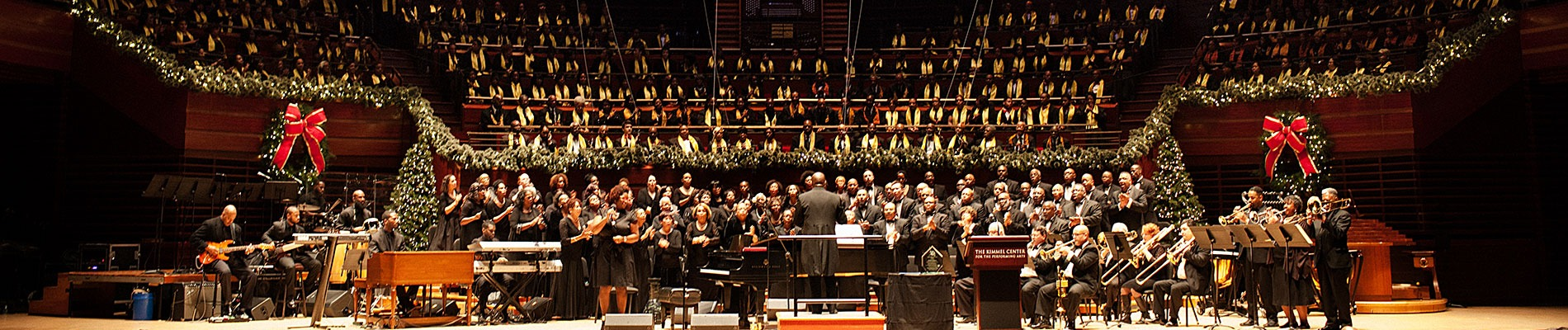 Choirs perform in Verizon Hall at the Kimmel Center for A Soulful Christmas