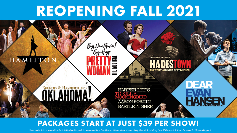 Reopening Fall 2021 - Packages start at just $39 per show