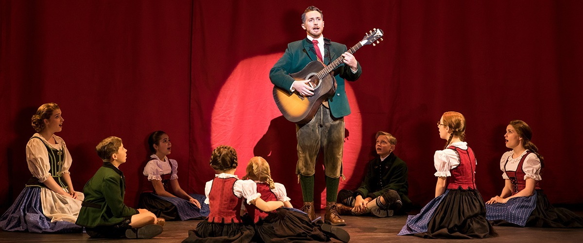 Mike McLean as Captain von Trapp and the von Trapp Family © Photo by Matthew Murphy