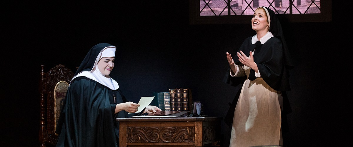 Lauren Kidwell as The Mother Abbess and Jill-Christine Wiley as Maria Rainer © Photo by Matthew Murphy