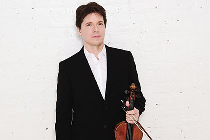 Joshua Bell with violin