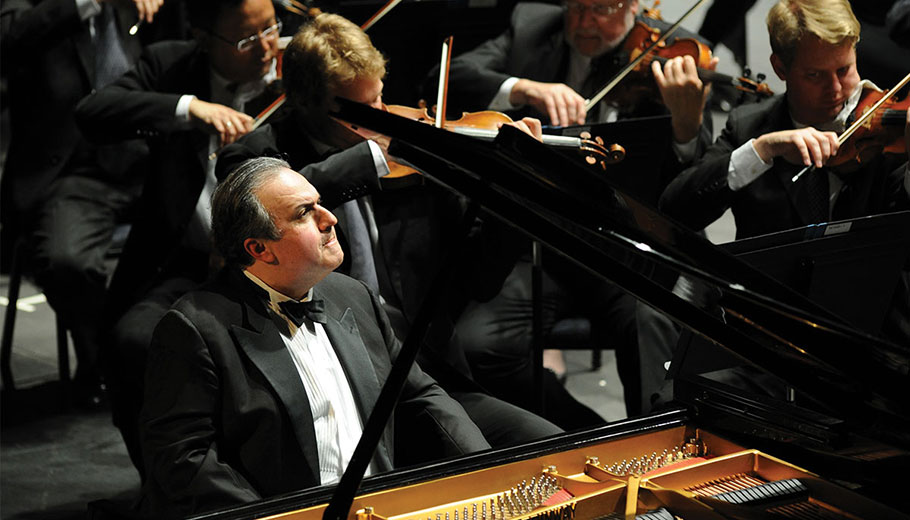 Yefim Bronfman on piano