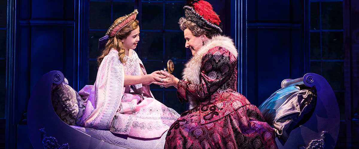 Victoria Bingham (Little Anastasia) and Joy Franz (Dowager Empress) in the National Tour of ANASTASIA. © Photo by Evan Zimmerman, MurphyMade.