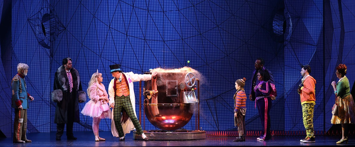 The cast of Roald Dahl's CHARLIE AND THE CHOCOLATE FACTORY. Photo by Joan Marcus ©