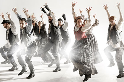 The Cast of Fiddler on the Roof Dances