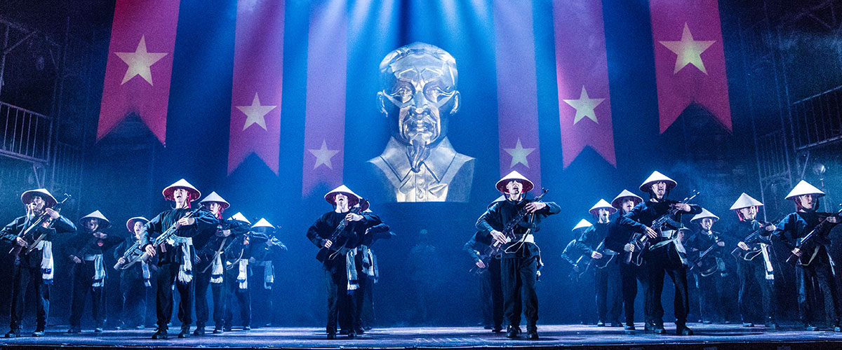 "The Company of the North American Tour of MISS SAIGON performs ""Morning of the Dragon' © Matthew Murphy"