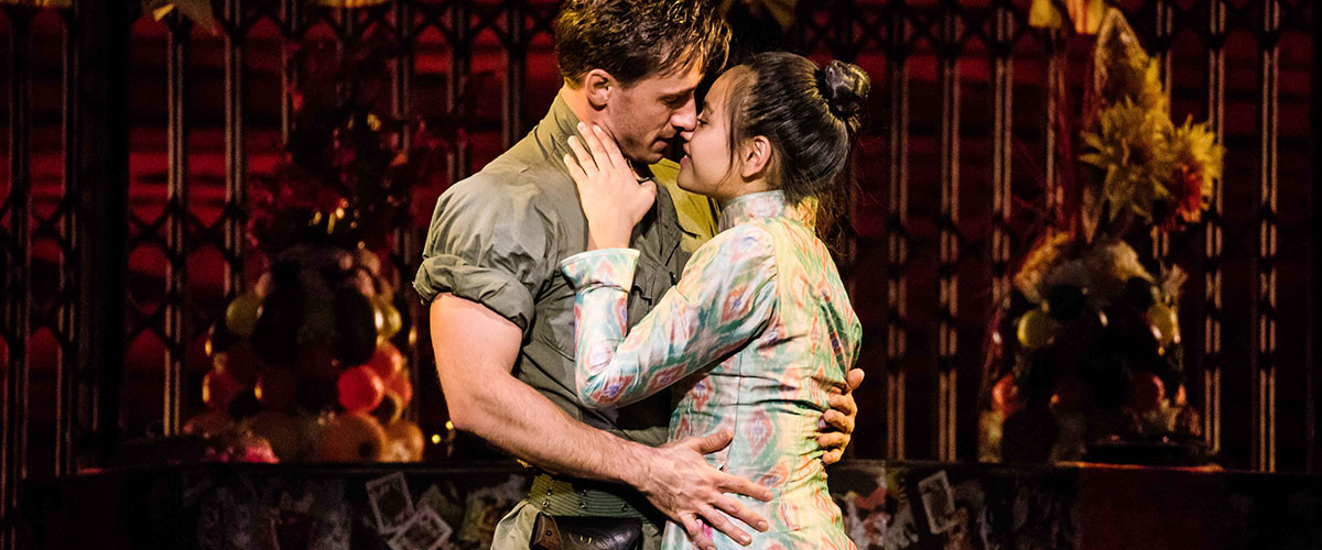 "Emily Bautista as 'Kim' and Anthony Festa as 'Chris' in the North American Tour of MISS SAIGON singing ""Last Night of the World"" © Matthew Murphy"