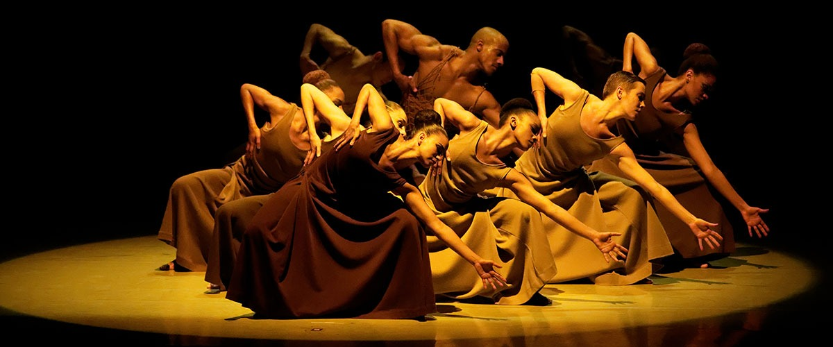 Alvin Ailey American Dance Theater Company Pictured in Performance