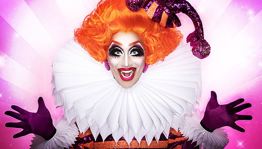Promo shot of Bianca Del Rio in Jester Costume