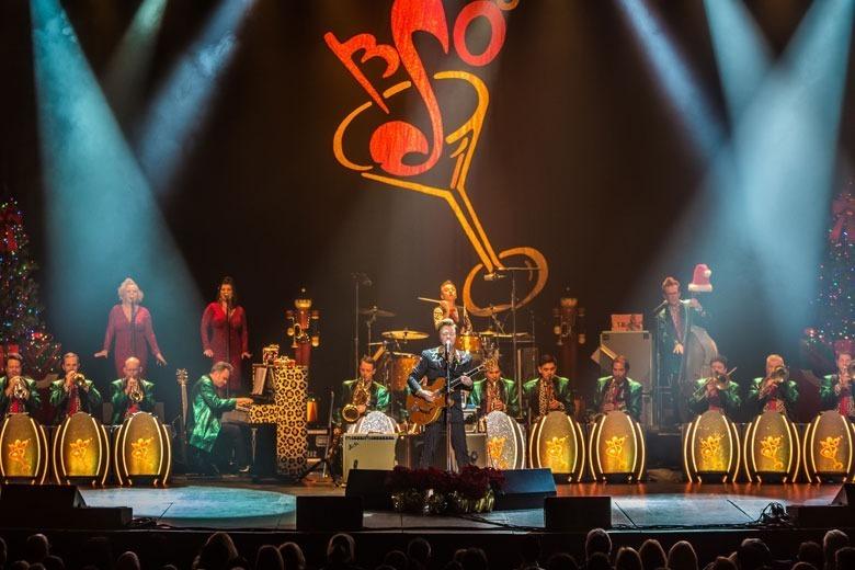 Brian Setzer Christmas.The Brian Setzer Orchestra 15th Anniversary Christmas Tour