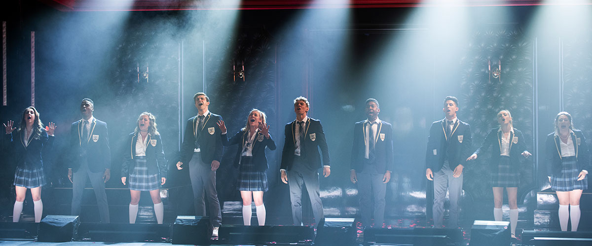 The cast of the North American Tour of Cruel Intentions-The 90s Musical (Photo By Jenny Anderson)
