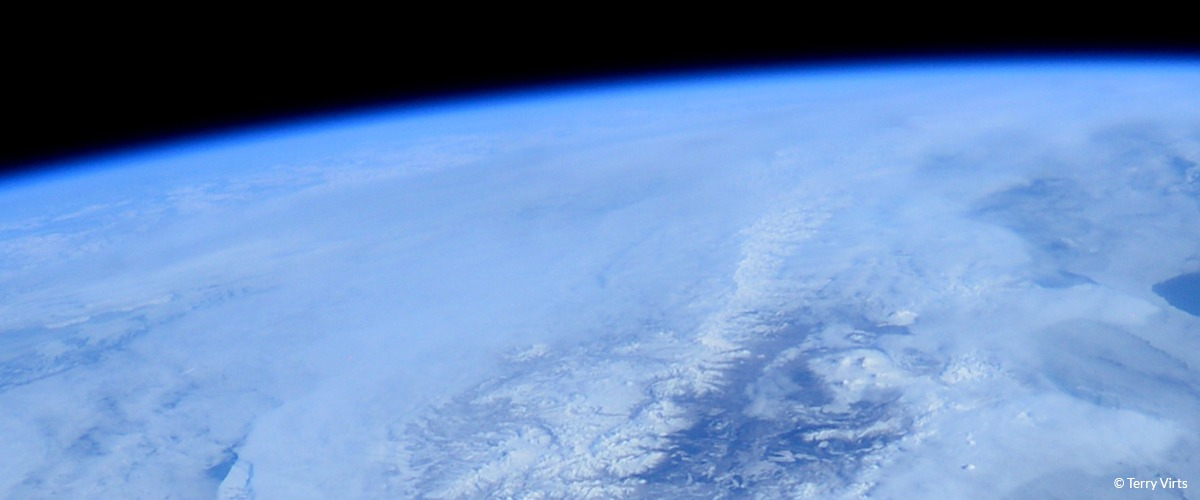 A view of earth from space