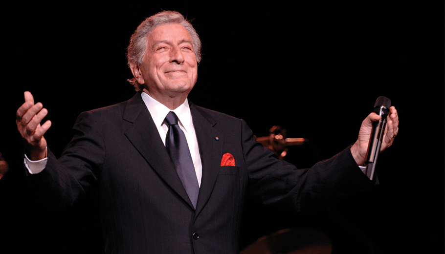 Tony Bennett pictured on stage