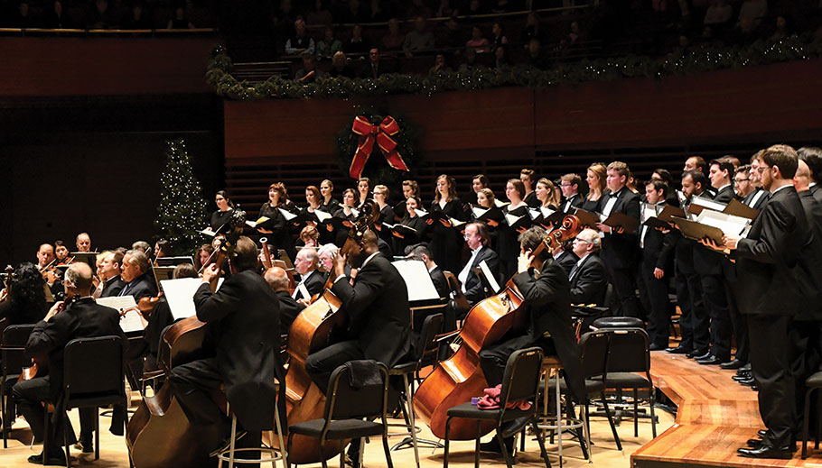 The Philadelphia Orchestra performing at Christmas time.