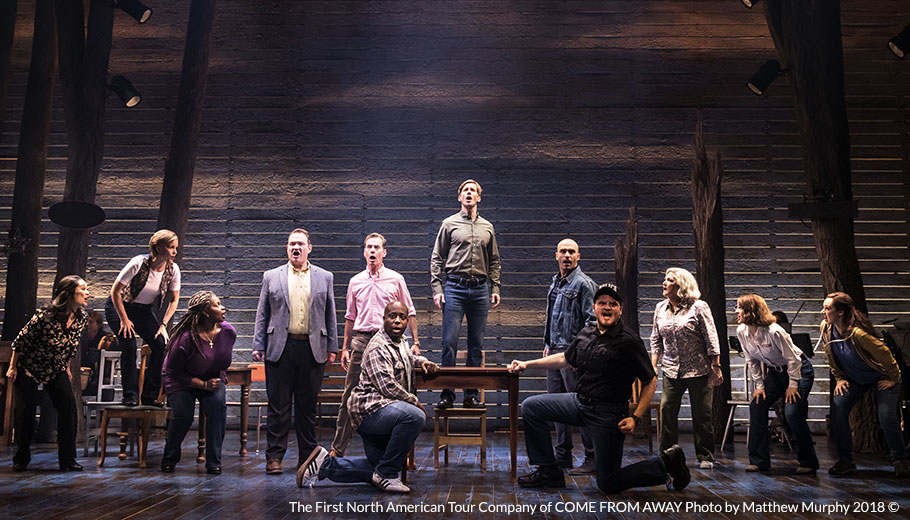 The First North American Tour Company of COME FROM AWAY Photo by Matthew Murphy 2018 ©