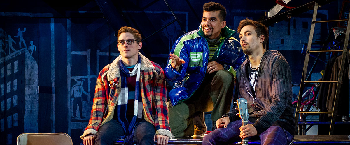 (L to R) Cody Jenkins, Juan Luis Espinal, Coleman Cummings - RENT 20th Anniversary Tour, Credit Amy Boyle 2019 ©