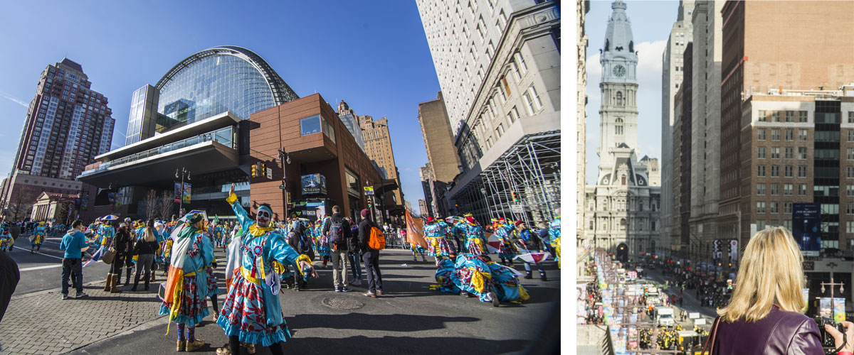 Collection of images from New Years Day at the Kimmel Center