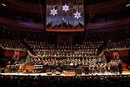 Choirs Perform on stage at Verizon hall at the Kimmel Center