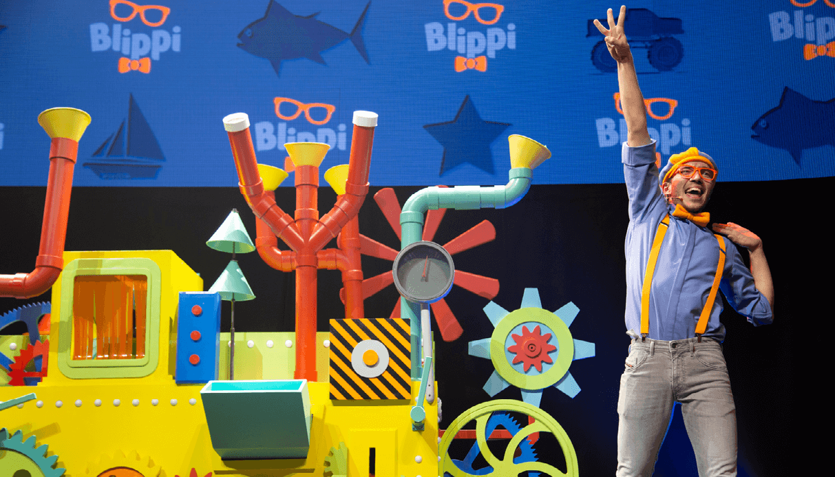 Blippi the Musical pictured.