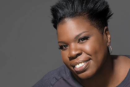 Close up of Leslie Jones