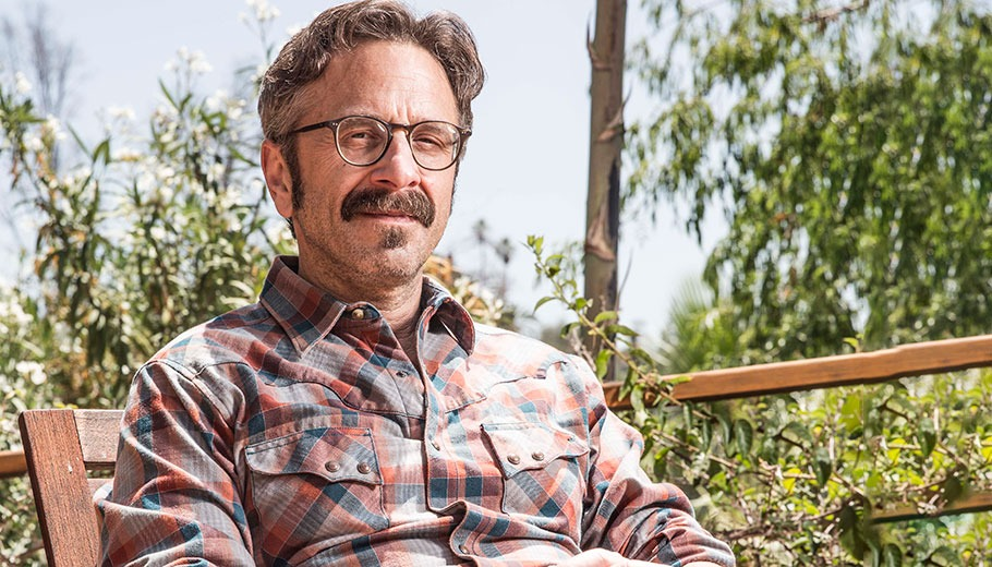 Marc Maron Pictured Sitting Outside