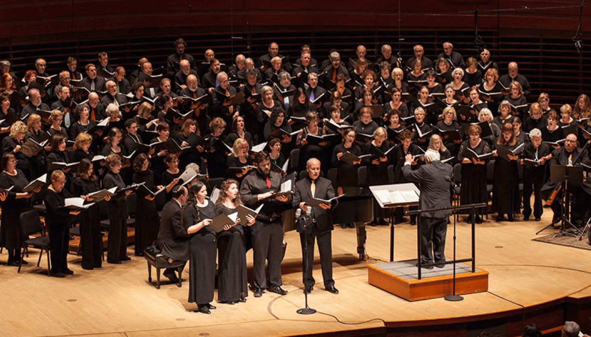 Sing Hallelujah Performance pictured in Verizon Hall