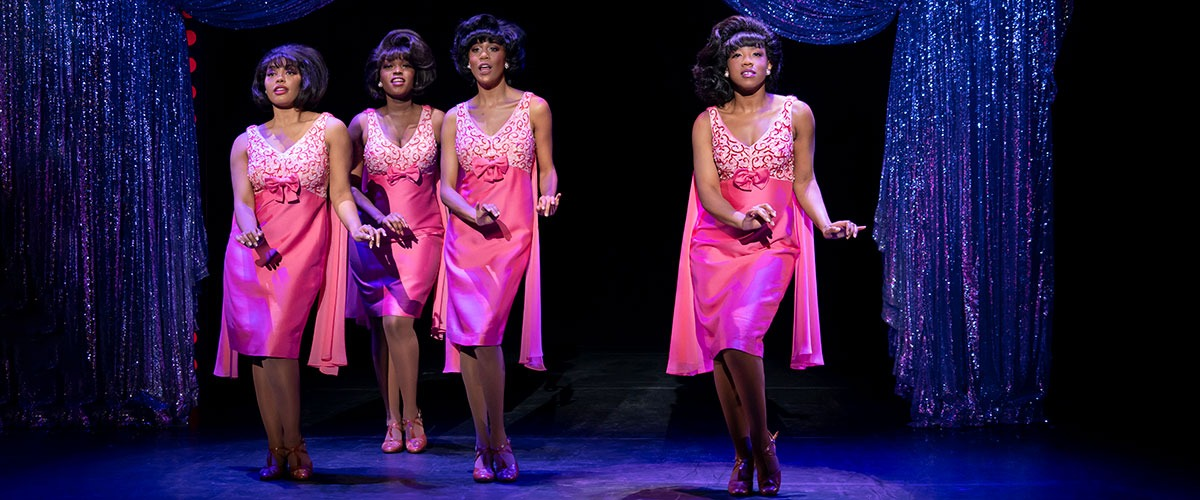 The Shirelles. (l to r) Nazarria Workman, Nya, Hailee Kaleem Wright and Antoinette Comer. Photo by Joan Marcus.