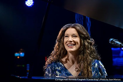 "Carnegie Hall. Kennedy Caughell (""Carole King"") - Photo by Joan Marcus"