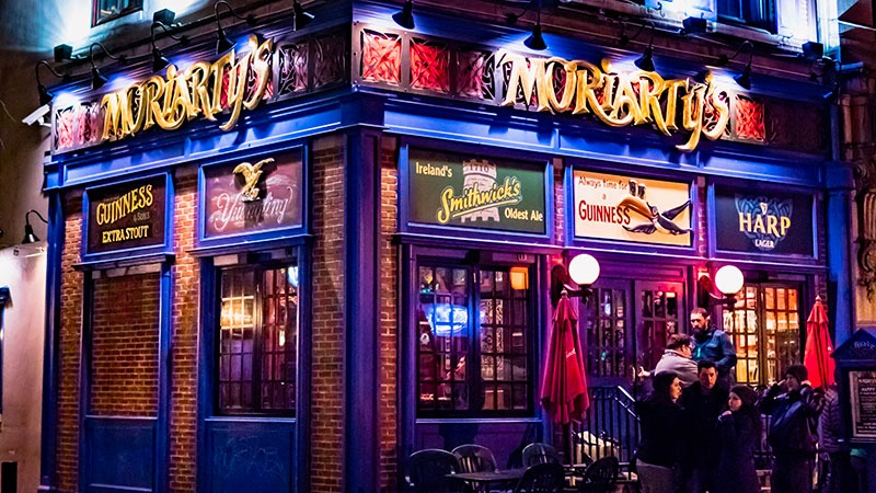Exterior shot of Moriarty's Restaurant & Pub