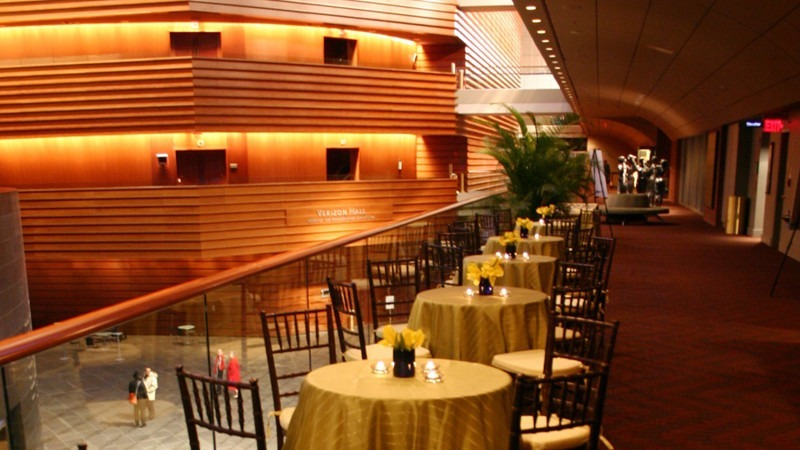 The Kimmel Center's First Tier Lounge is a top choice for elegant group gatherings.