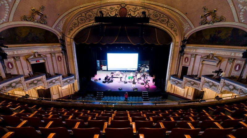 The Merriam Theater adds an elegant touch as another historical and famous venue.