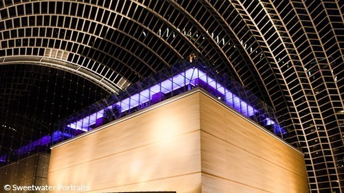 Interior of Kimmel Center at night