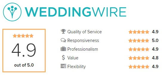 Wedding Wire - 4.9 out of 5 Stars