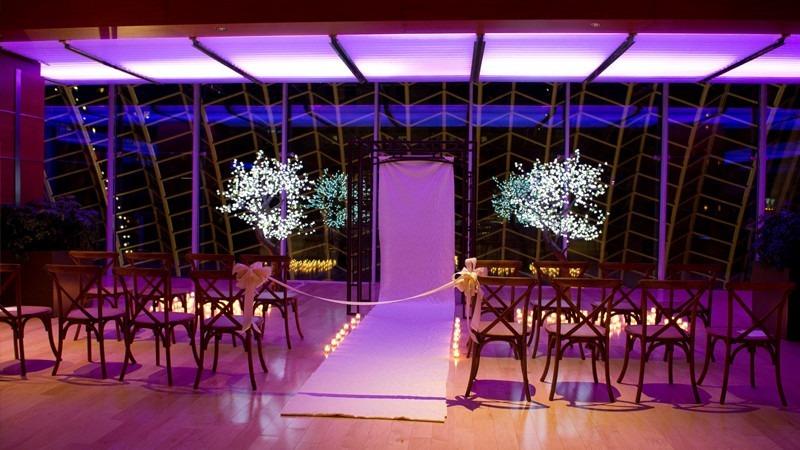Kimmel center garden wedding