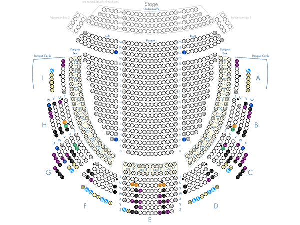 Academy Of Music Parquet Partial Seating Chart