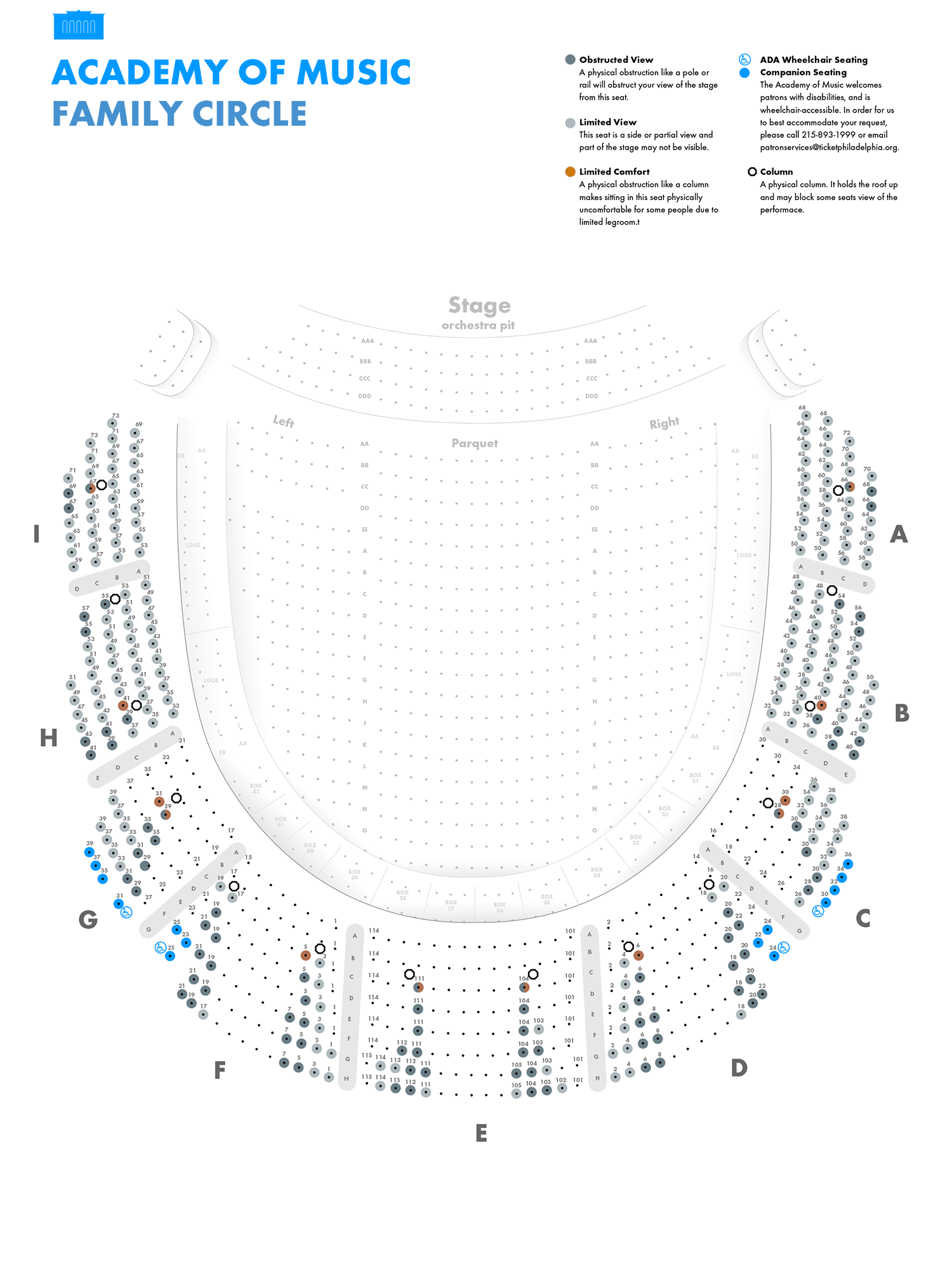 Academy Of Music Family Circle Seating Chart