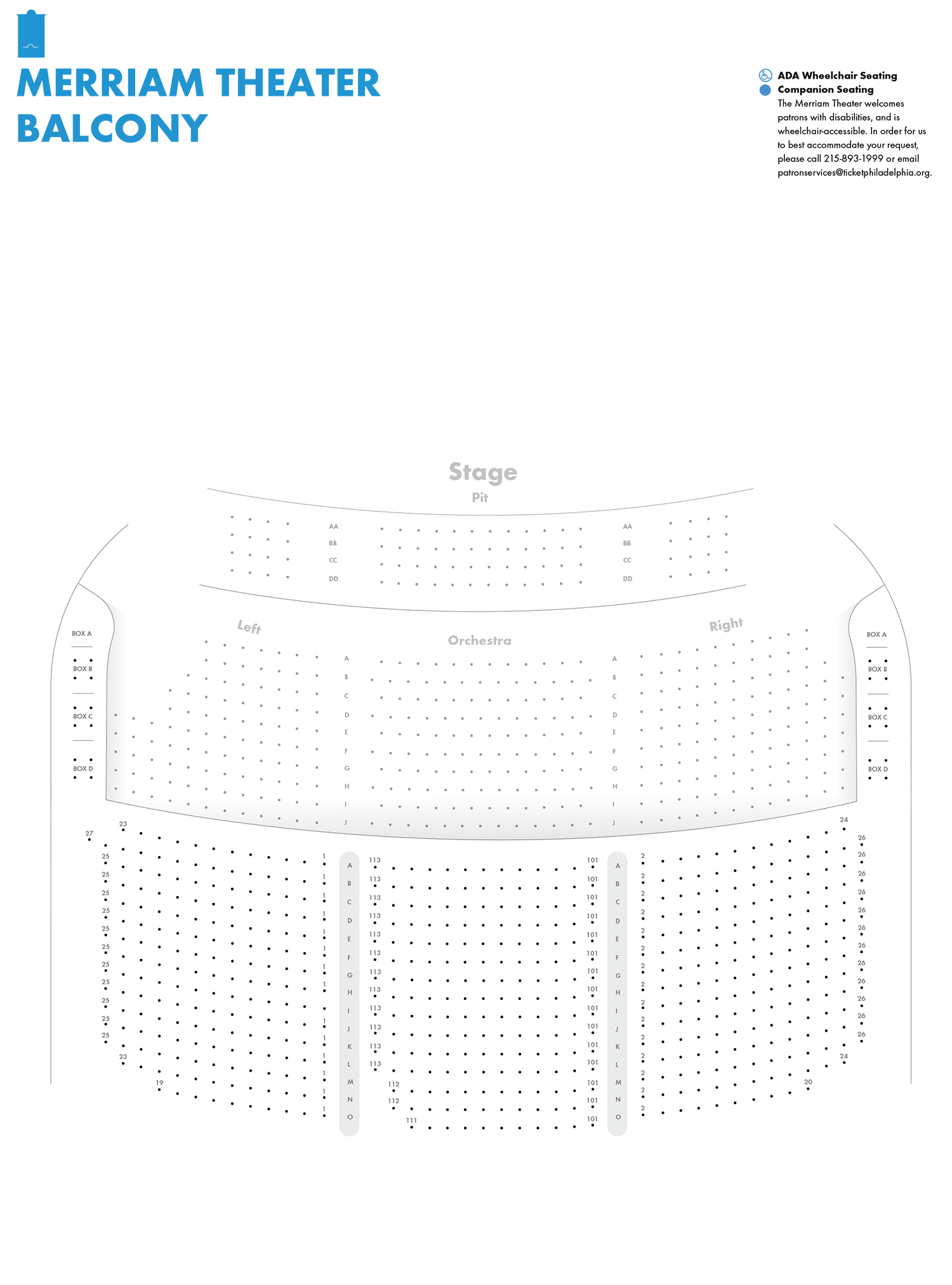 Merriam Theater Balcony Seating Chart