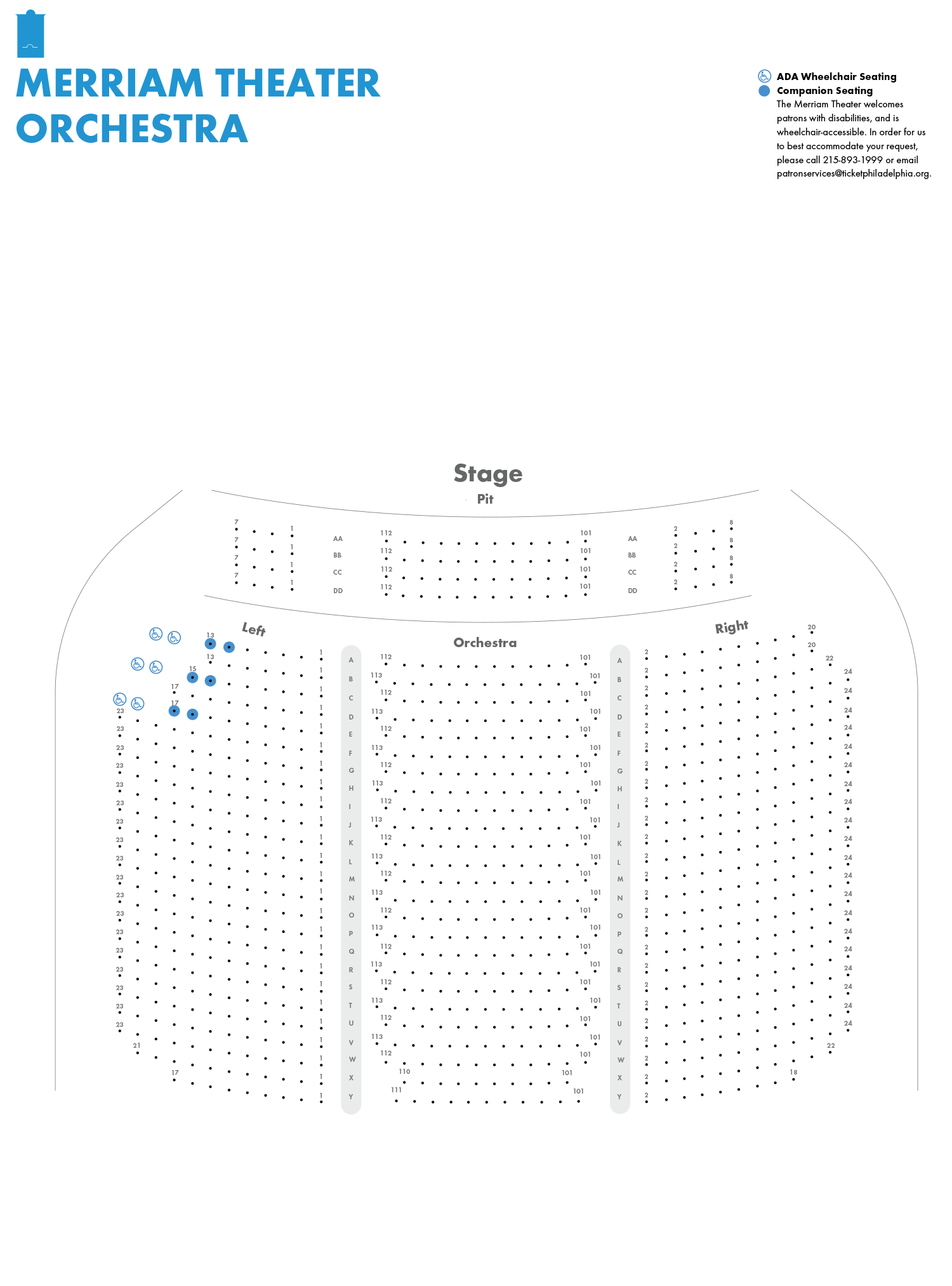 Merriam Theater Orchestra Seating Chart